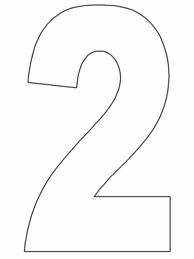 Number Templates to Cut Out Luxury Number 2 Template Templates In 2019