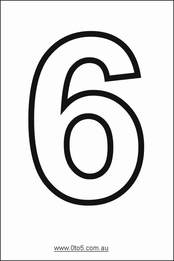 Number Templates to Cut Out Luxury Printable Number 6 Template Week 5