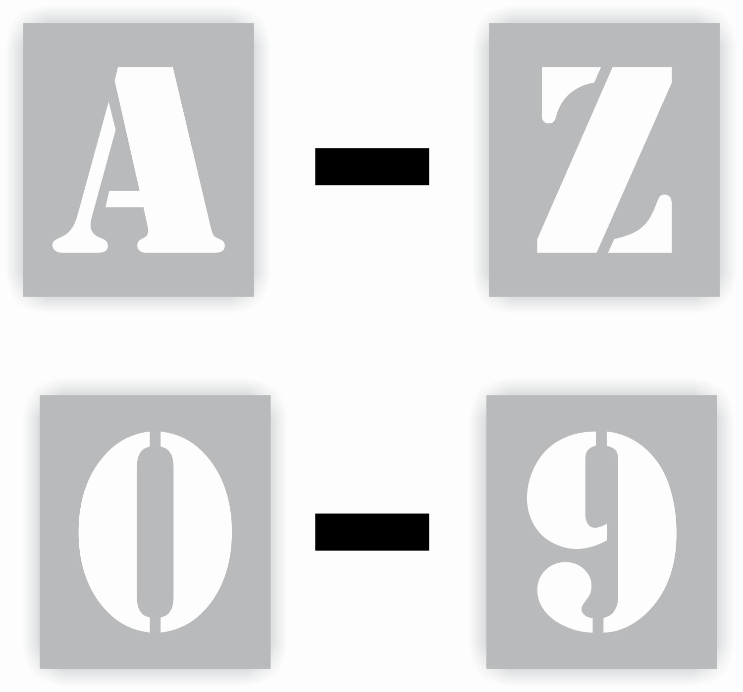 Number Templates to Cut Out Unique Alphabet and Number Stencils Choose Your Characters
