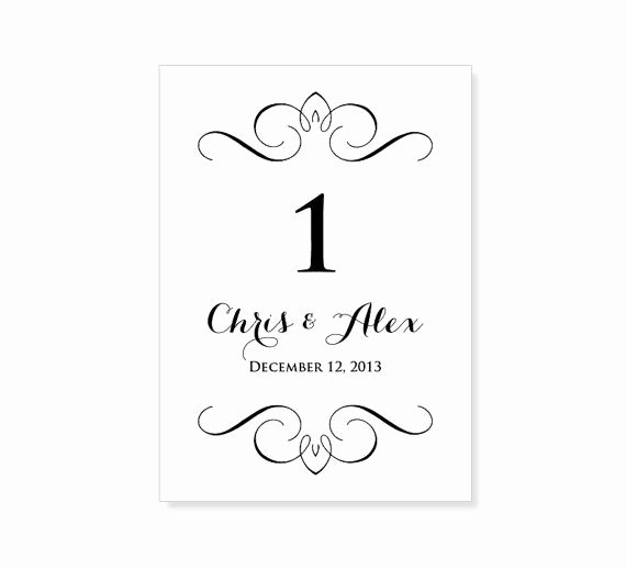 Number Templates to Print Free Beautiful Instant Download Wedding Table Number Template by 43lucy