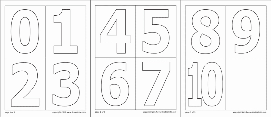 Number Templates to Print Free Beautiful Numbers
