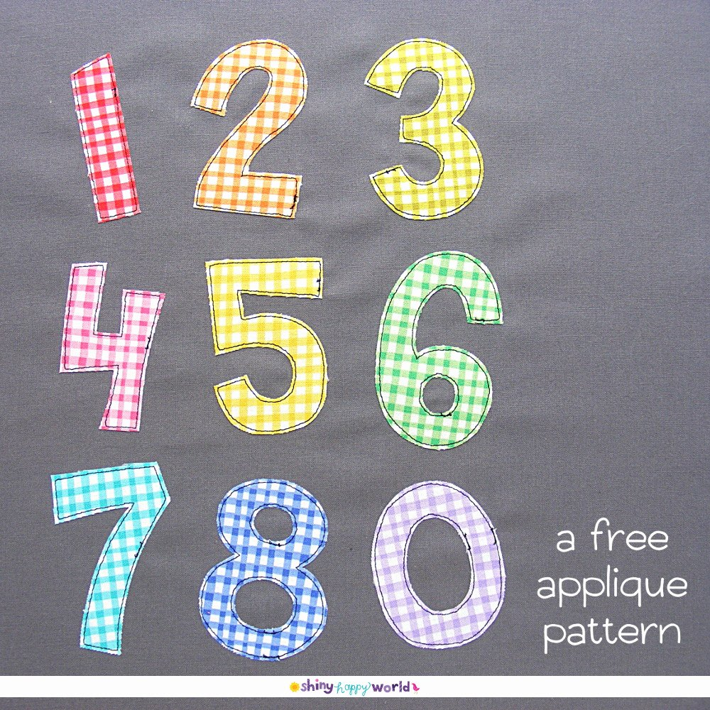 Number Templates to Print Free Best Of Free Numbers Applique Pattern