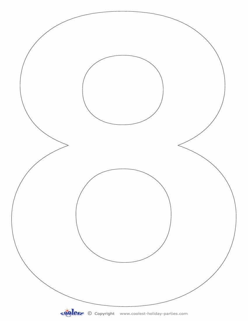 Number Templates to Print Free Best Of Number 8 Printable Printable Pages