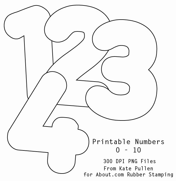 Number Templates to Print Free Lovely 7 Best Images About Number Templates On Pinterest