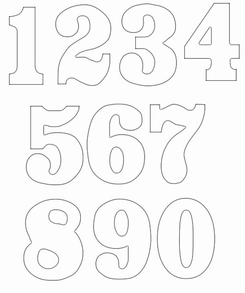 Number Templates to Print Free Lovely Free Numbers Clipart