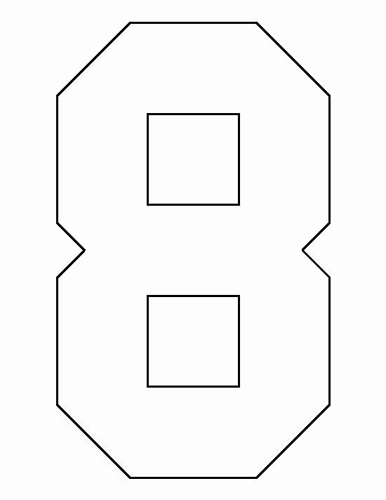 Number Templates to Print Free Lovely Number 8 Pattern Use the Printable Outline for Crafts