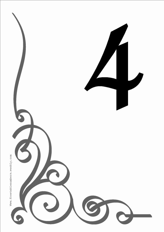 Number Templates to Print Free New Free Flourish Printable Diy Table Numbers Free Table Numbers