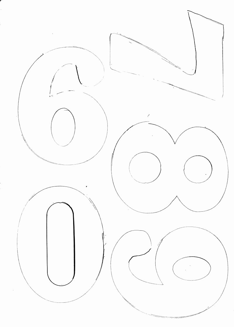 Number Templates to Print Free New Large Numbers Large Numbers 6 7 8 9 0 as Promised Print