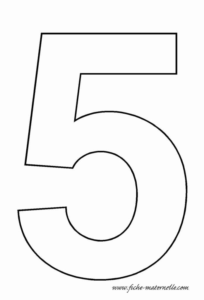Number Templates to Print Free Unique Number 5 Template