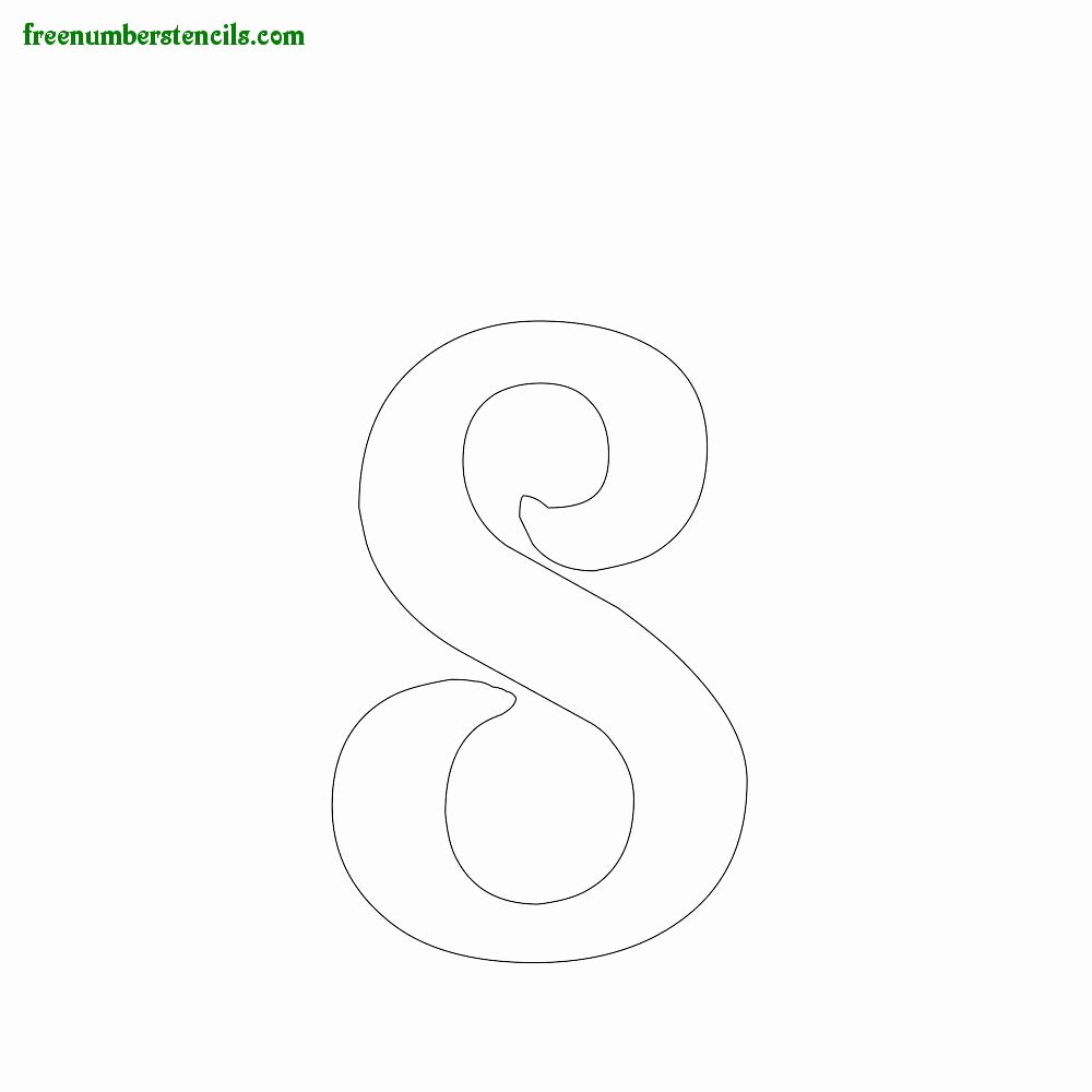 Number Templates to Print Free Unique Print Free Spirals Number Stencils Line