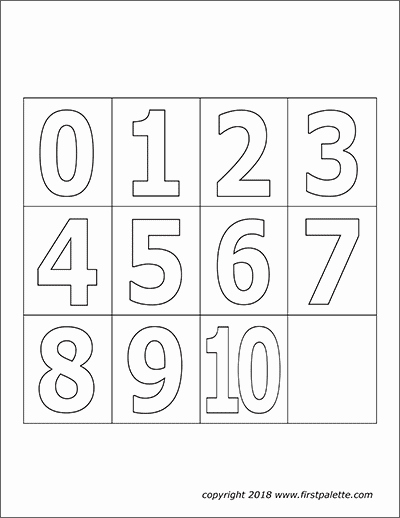 Number Templates to Print Fresh Numbers