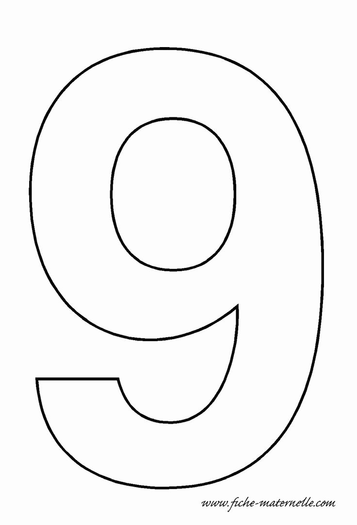 Number Templates to Print Inspirational Number 9 Template