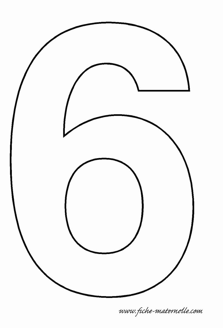 Number Templates to Print Lovely Number 6 Template Mason S Birthday Pinterest