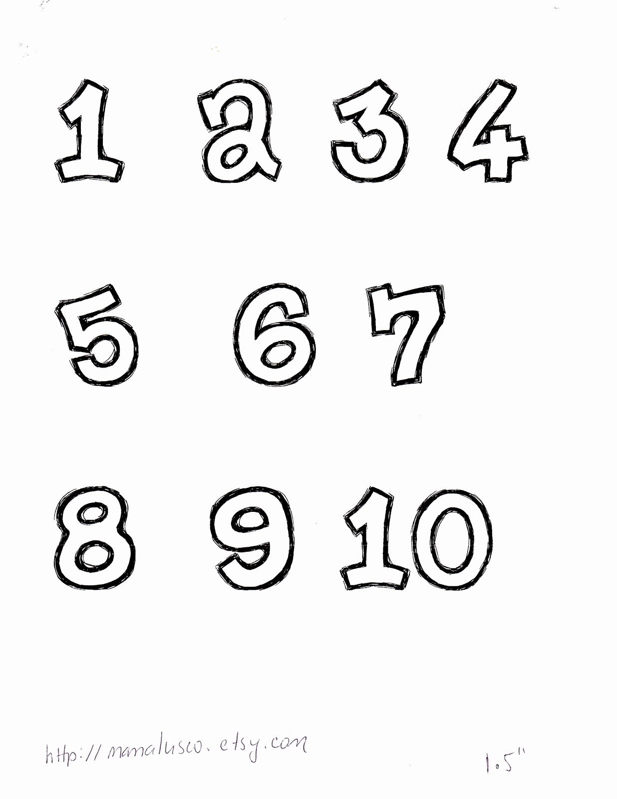 Number Templates to Print New Mama Lusco Handmade Free Number Templates 1 10 for Applique
