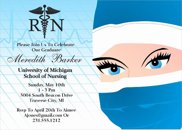 Nurse Graduation Invitations Printable Awesome 48 Sample Graduation Invitation Designs & Templates Psd