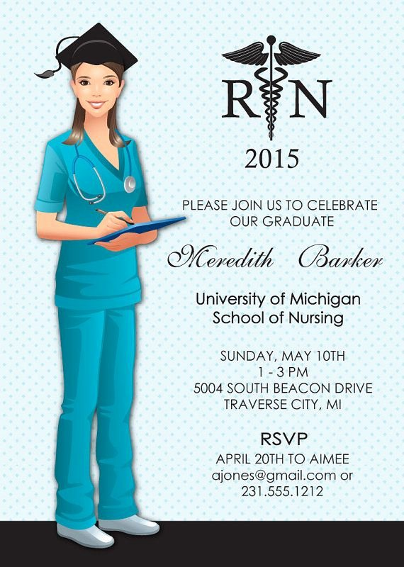 Nurse Graduation Invitations Printable Awesome 91 Best Images About Nurse Graduation Announcements