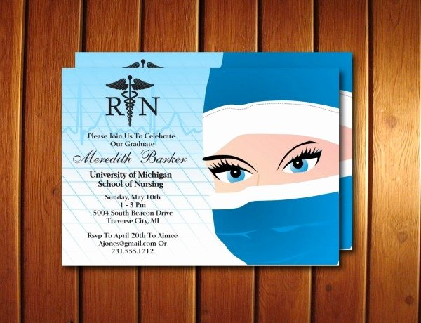 Nurse Graduation Invitations Printable Best Of Nurse Graduation Invitations Printable
