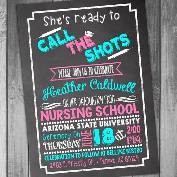 Nurse Graduation Invitations Printable Best Of Nursing School Graduation Invitation Graduation Party College
