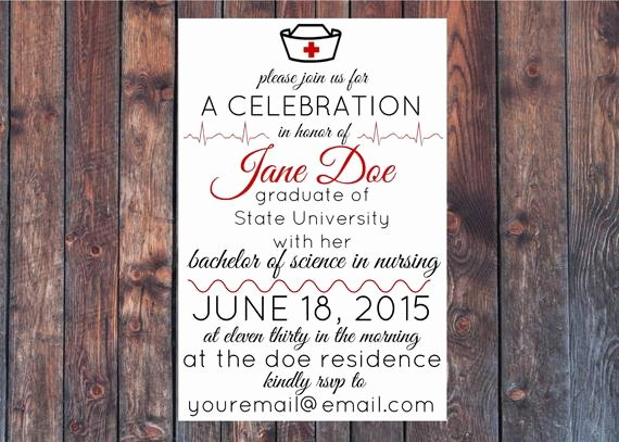 Nurse Graduation Invitations Printable Best Of Printable Nursing School Graduation Party by Youandmearewe