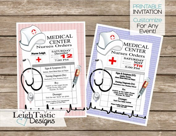 Nurse Graduation Invitations Printable Inspirational Sale Printable Nurse Graduation Invitation Rn Bsn Nurse