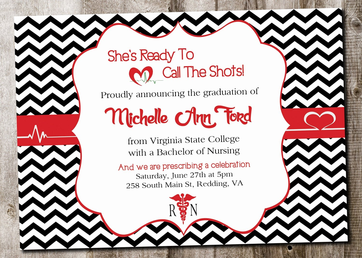 Nurse Graduation Invitations Printable New Custom Nursing Graduation Invitation Printable Card Digital