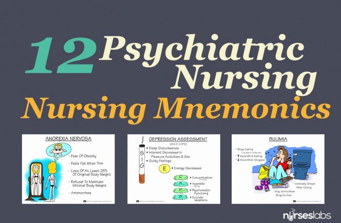 Nursing Diagnoses In Psychiatric Nursing Lovely 39 Medical Surgical Nursing Mnemonics and Tips 1 Nurseslabs