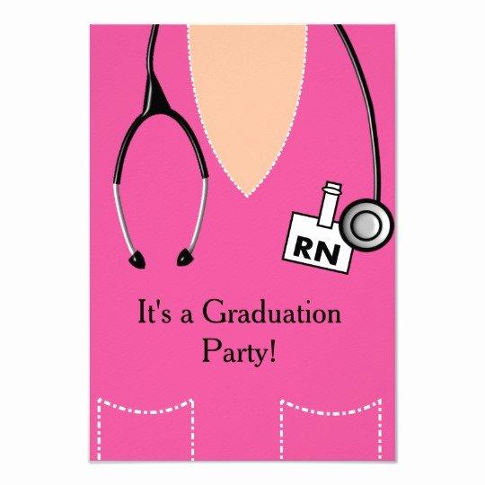 Nursing Graduation Invitation Templates Free Awesome Rn Nurse Graduation Invitation Scrub top 55