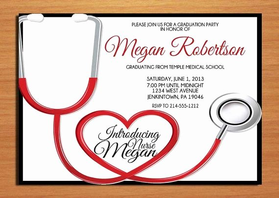 Nursing Graduation Invitation Templates Free Beautiful 14 Best Graduation Invitations Images On Pinterest