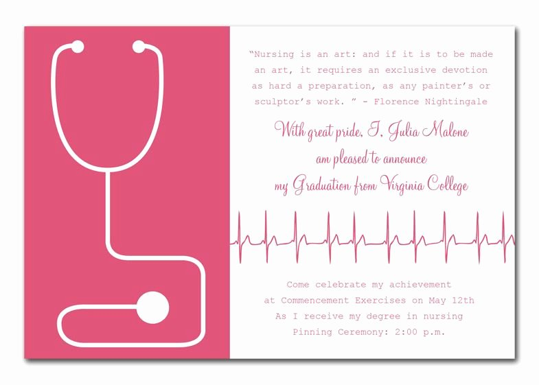 Nursing Graduation Invitation Templates Free Beautiful Medical Success by Invitation Consultants