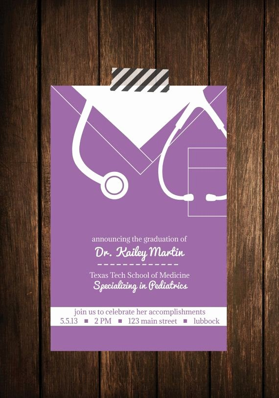 Nursing Graduation Invitation Templates Free Beautiful Nurse Bling Custom Graduation Invitations