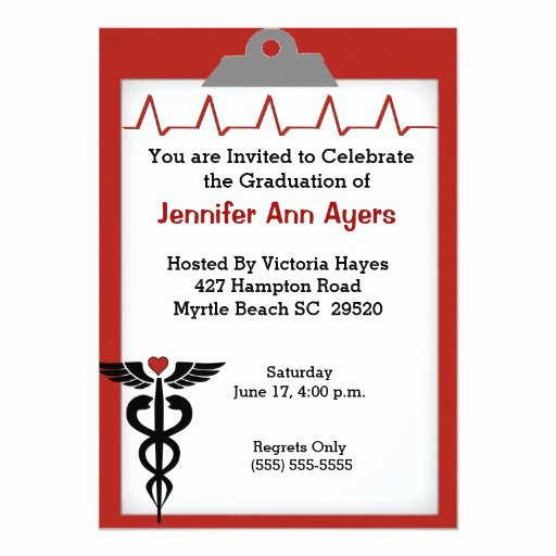 Nursing Graduation Invitation Templates Free Elegant Nurse Graduation Party Invitation