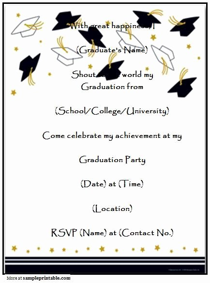Nursing Graduation Invitation Templates Free Fresh Free Printable Nursing Graduation Party Invitation