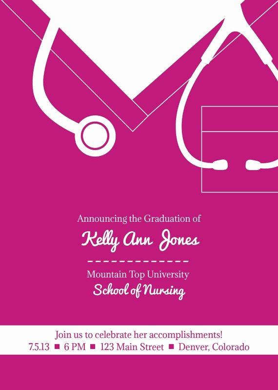 Nursing Graduation Invitation Templates Free Lovely 65 Best Graduation Party Images On Pinterest
