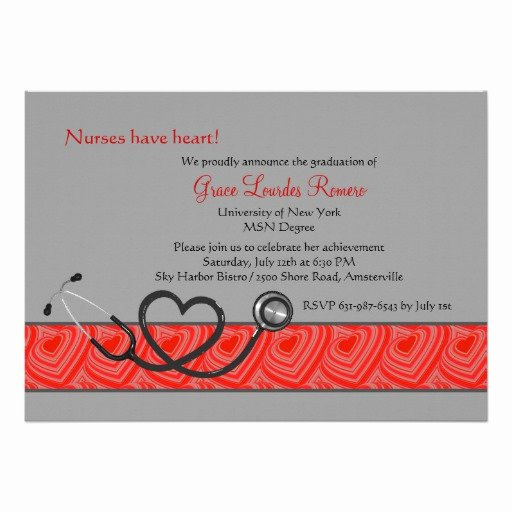 Nursing Graduation Invitation Templates Free Lovely Nurses Have Heart Graduation Invitation