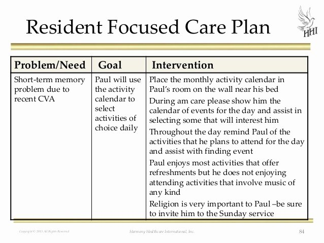 Nursing Home Care Plan Template Beautiful the Rai Process Caas Care Planning and Beyond