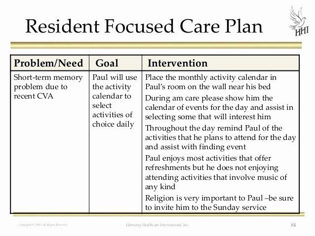 Nursing Home Care Plan Template Beautiful the Rai Process Caas Care Planning and Beyond