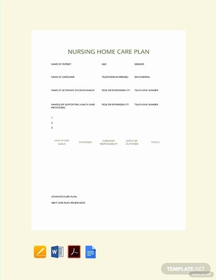 Nursing Home Care Plan Template New Free Printable Nursing Care Plan Download 231 Plans In