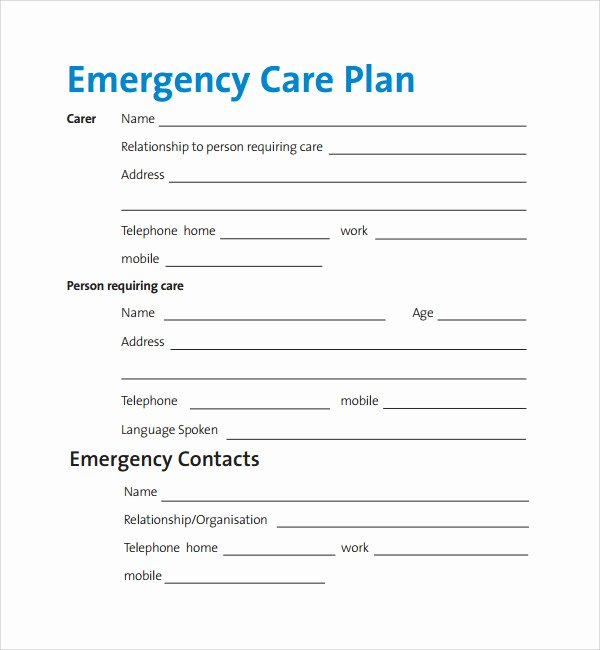Nursing Home Care Plan Template New Sample Care Plan Template 17 Documents In Pdf Word
