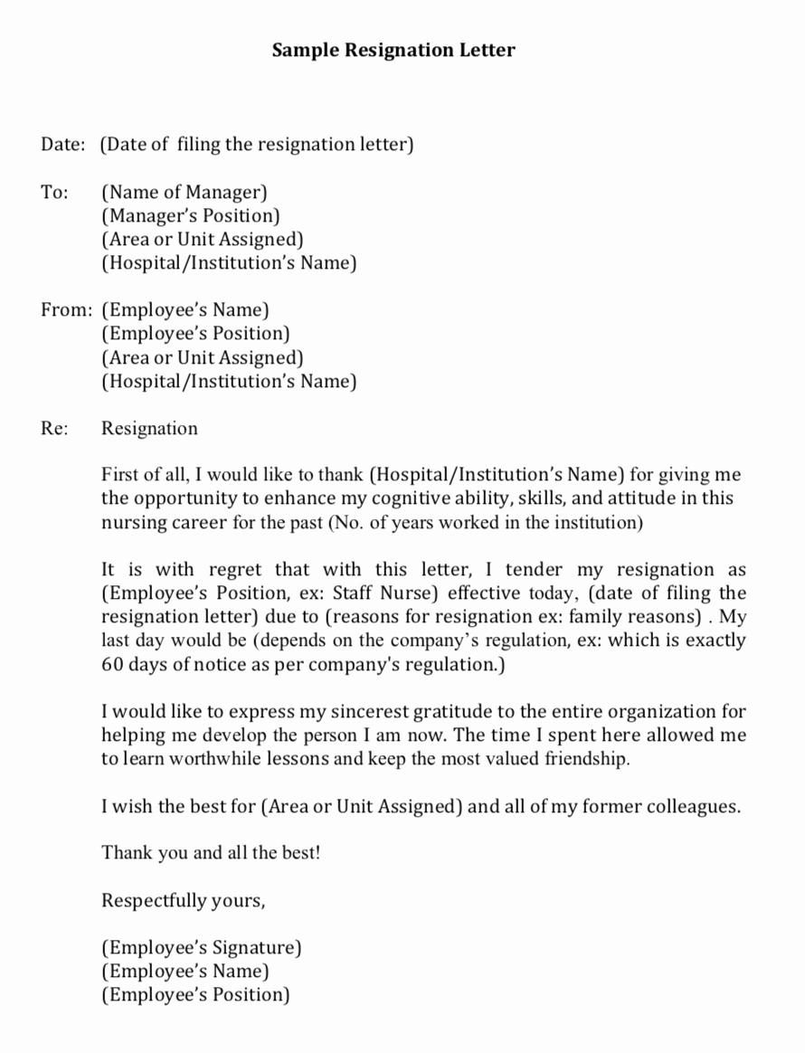 Nursing Letter Of Resignation Best Of My First Resignation as A Filipino Nurse In Singapore