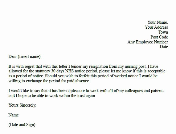 Nursing Resignation Letter Template Elegant formal Resignation Letter for Nurse Learnist