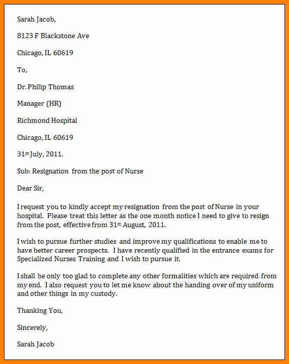 Nursing Resignation Letter Template Luxury Resignation Letter Nurse