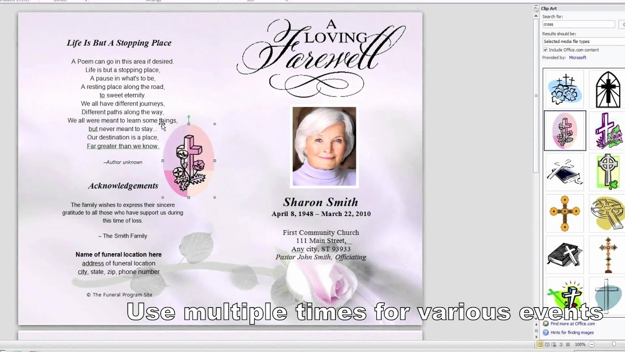 Obituary Template for Microsoft Word Best Of How to Make A Funeral Program In Word