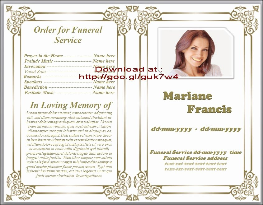 Obituary Template for Microsoft Word Elegant Obituary Templates