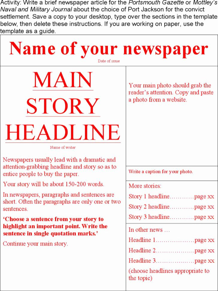 Obituary Template Google Docs Awesome 28 Newspaper Templates Free Download