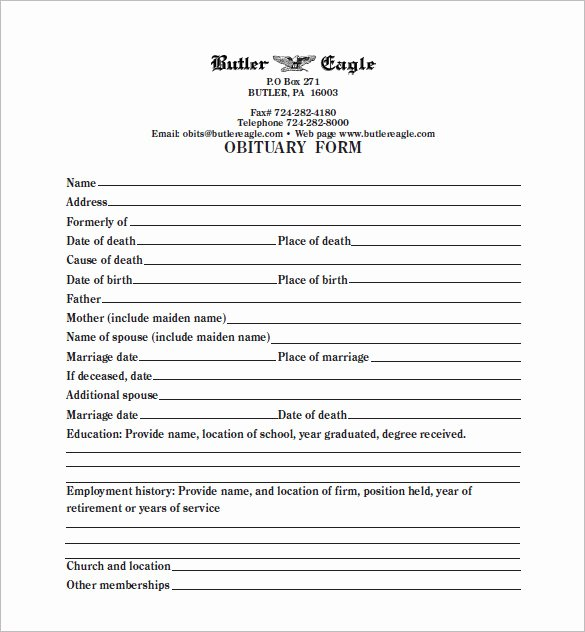 Obituary Template Google Docs Fresh 5 Blank Obituary Templates Doc Pdf