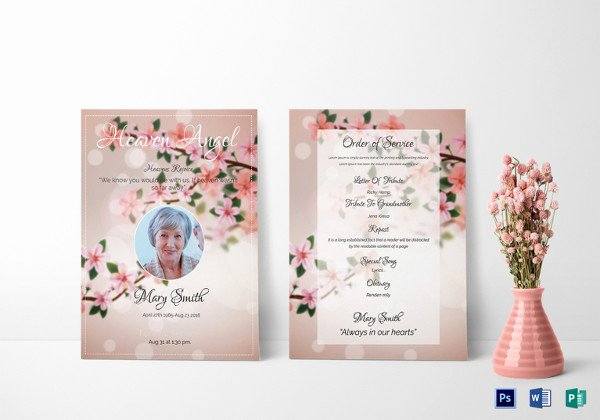 Obituary Template Google Docs New 16 Obituary Card Templates Free Printable Word Excel
