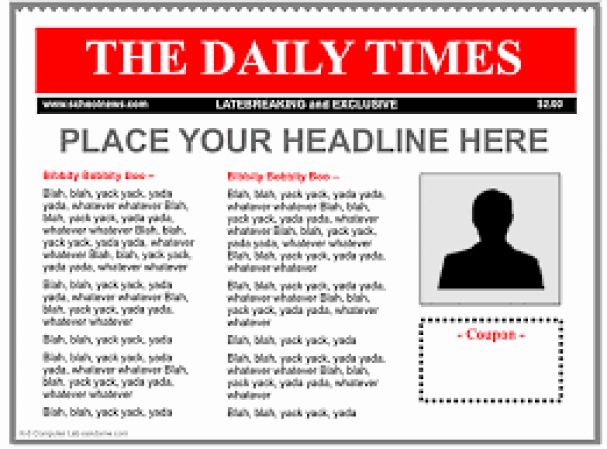 Obituary Template Google Docs Unique 9 Newspaper Templates Word Excel Pdf formats