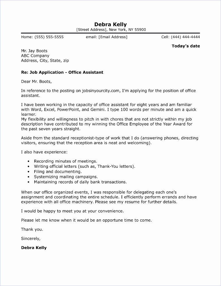 Office assistant Cover Letter Sample Elegant Fice Administrator Cover Letter Sample