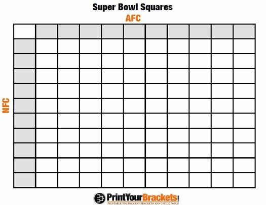 Office Football Pool Template Fresh Printable Super Bowl Squares 100 Grid Fice Pool Nfl