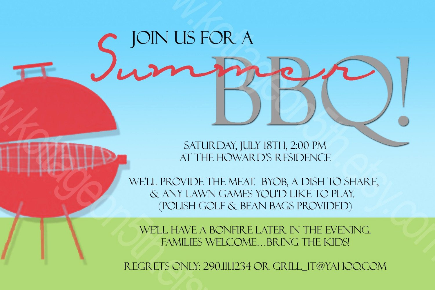 Office Potluck Invitation Wording Samples Awesome 12 Best S Of Summer Bbq Invitation Word Template